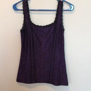 WHBM purple and black camisole